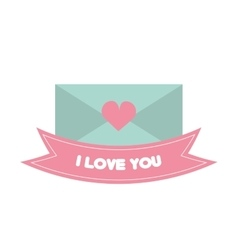 message i love you pink banner vector image