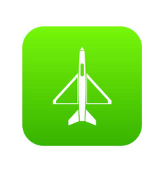 military aircraft icon digital green vector image