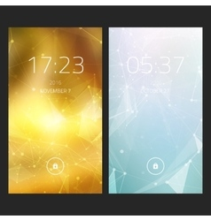 Mobile interface wallpaper design Set of abstract vector