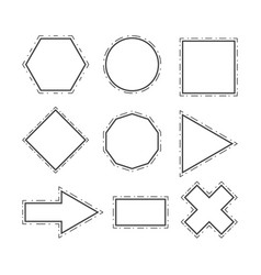 modern geometric line shapes set vector image