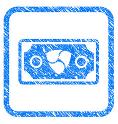 nem banknote framed stamp vector image