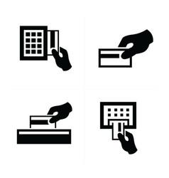Press card a credit card vector