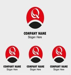 Q letter logo - Template letter Q vector