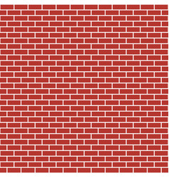 red brick wall seamless pattern bricks vector image
