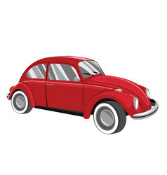 Red retro car vector
