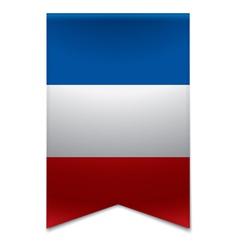 Ribbon banner - french flag vector image