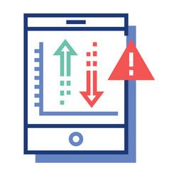 Risk investment flatoutline vector