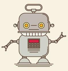 robot flat vector image