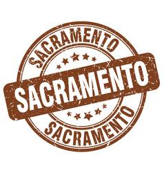 Sacramento brown grunge round vintage rubber stamp vector