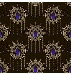 Seamless beautiful art deco pattern ornament vector image