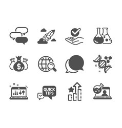 Set education icons such as quick tips vector