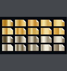 Set premium golden gradients in two shade vector