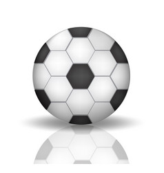 Soccer ball icon in realistic 3d style football vector
