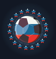 soccer world cup russia design vector image