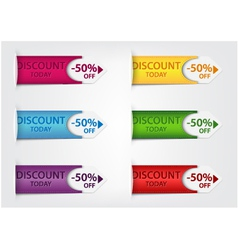 Special discount price tags vector