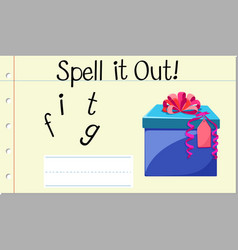 Spell it out gift vector