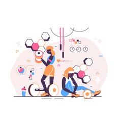 sport girls in gym vector image