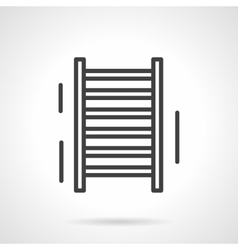 Sports ladder black line icon vector image