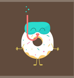 summer sweets color donuts cake icon design vector image