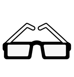 sunglasses with square frame icon image vector image