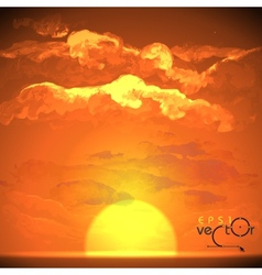 Sunset Sunrise With Clouds vector