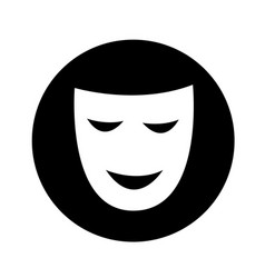 theatrical masks icon design vector image