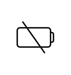 thin line low battery icon vector image