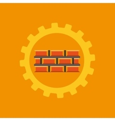 tool box bricks construction icon design vector image