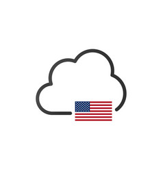 United states cloud domain server or storage vpn vector