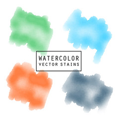 watercolor elements for design stains blots in vector image