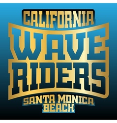 Wave riders typography graphics vector