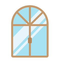 window flat icon furniture and interior vector image