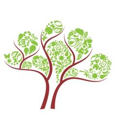 icon eco tree vector image