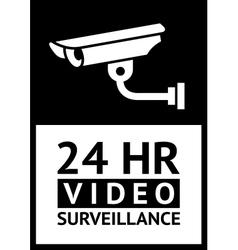 label CCTV symbol vector image vector image