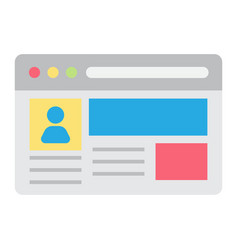 Account flat icon social media and website vector