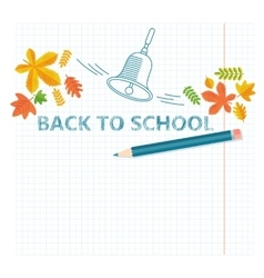 back to school notebook sheet vector image