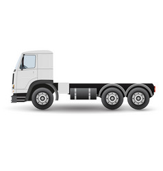 big truck tractor for transportation cargo vector image