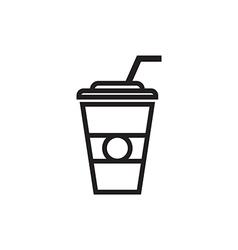 Paper Coffee Cup Icon vector image vector image