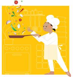 chef in the kitchen vector image vector image