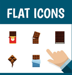 Flat icon sweet set of bitter wrapper delicious vector
