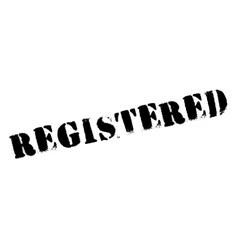 Registered stamp rubber grunge vector image