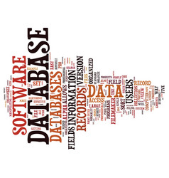 the key to the perfect database text background vector image vector image