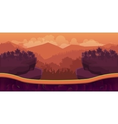 Biautiful landscape game background with vector image vector image