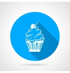 Contour icon for cupcake with cream vector image