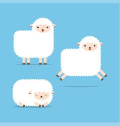 cute cartoon sheep set vector image