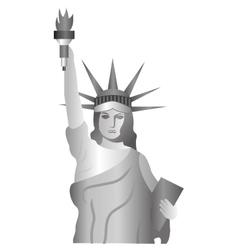 liberty statue landmark icon vector image