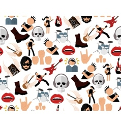 Rock music seamless pattern vector image vector image