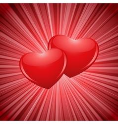 sparkling hearts vector image