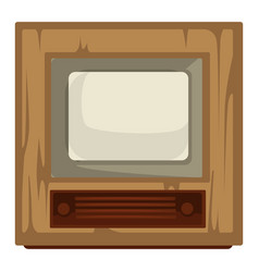 40s tv set house item retro device movie and vector
