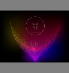 abstract digital future wave lines vector image